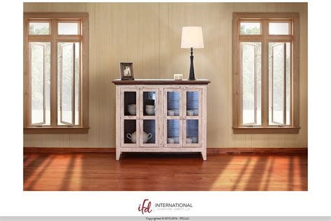 soft kitchen cabinets 50 quot console w 4 glass doors by international furniture 5587