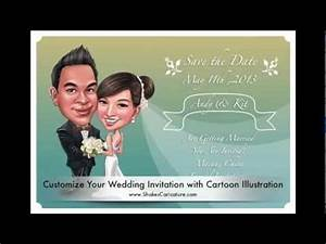 personalized wedding invitations save the date cards with With wedding invitation animation template