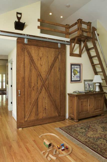 barn door & loft space craftsman kids