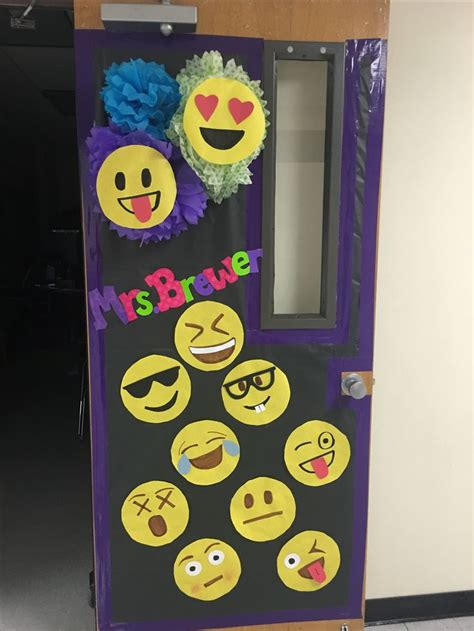 emoji classroom door classroom door classroom board