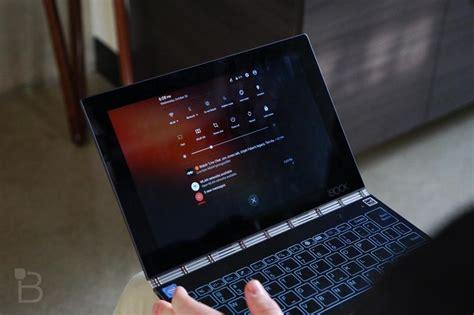 lenovo yoga book  tiny laptop   virtual keyboard