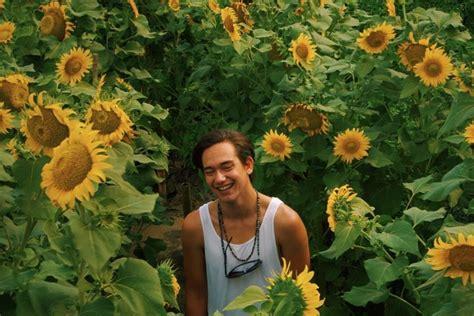 kebun bunga matahari  indah  pantai samas bantul