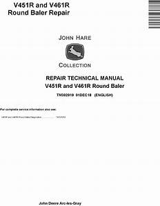 John Deere V451r And V461r Round Baler Service Repair