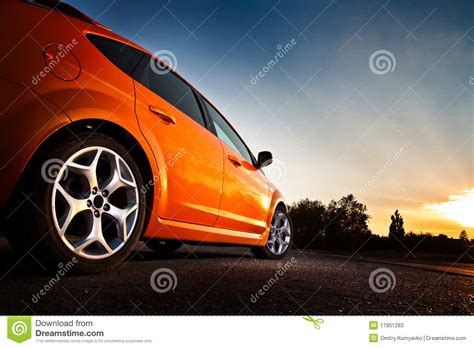 Rear-side View Of A Luxury Car Stock Photos