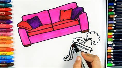 wie zeichnet man couch ausmalen kinder kindervideos