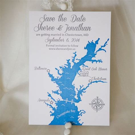 Custom Chesapeake Bay, Maryland Save the Date Cards for ...