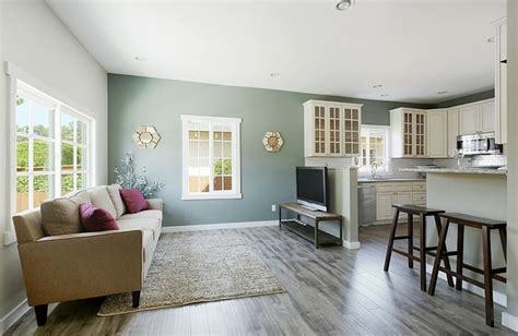 Living Room Floor Exercises by Beautiful Living Room Kitchen View Two Toned White And