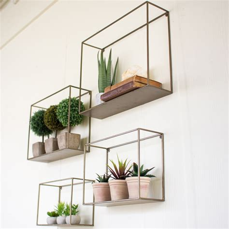 metal wall shelf kalalou metal wall shelf set 4 nke1034