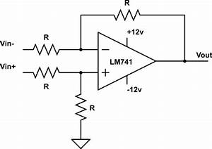 op amp op amp differential amplifier circuit for inputs With operational amplifiers the differentiator amplifier