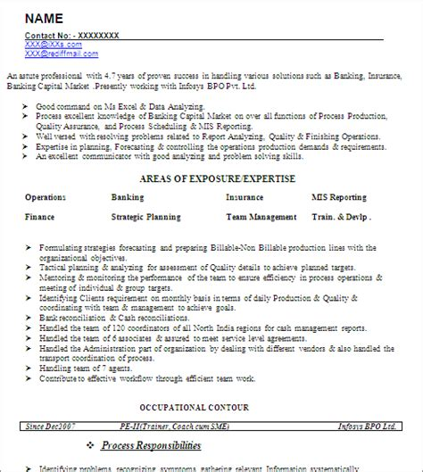 Resume Format For Mis Profile by Mis Developer Senior Reporting Analyst Free Resume