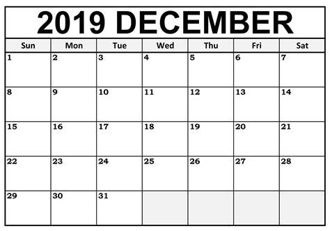 december  calendar  blank editable template