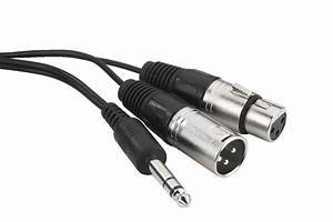 Monacor Insert Cable  6 3 Mm  Jack Male - Xlr Male