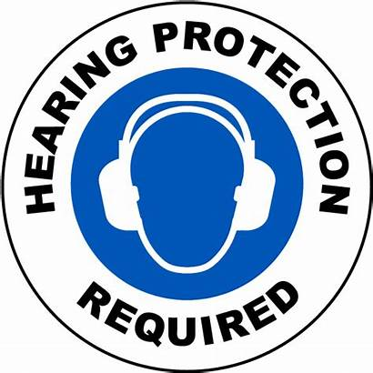 Hearing Protection Required Floor Conservation Safety Ear