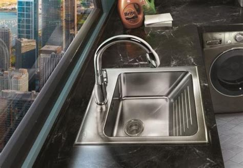 Undermount Laundry Sink With Washboard by Washboard Stainless Steel Sinks And Faucets By Just