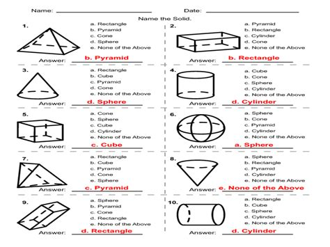 solid math worksheet answers solid geometry worksheet worksheets for all and