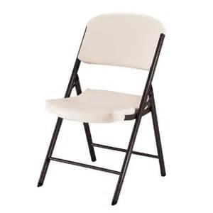 4 piece heavy duty folding chair almond lifetime 174 target
