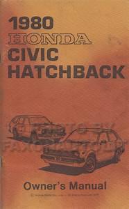 1980 Honda Civic Hatchback Owner U0026 39 S Manual Original