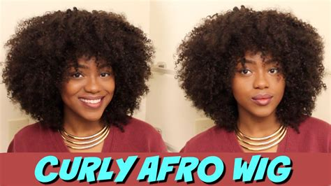 diy curly afro wig  hair left  youtube