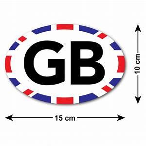 GB Car Sticker with Union Jack Edge - For UK / British