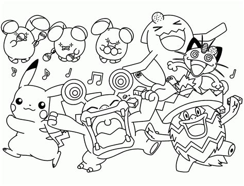 Pokemon Free To Color For Children