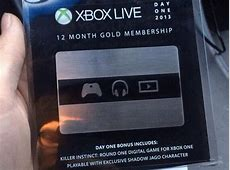 Xbox One Day One Edition Xbox Live Cards Are Out in the