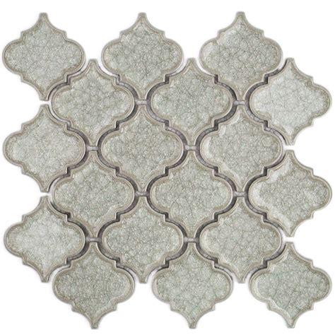 lantern tile splashback tile roman selection iced white lantern glass mosaic tile 3 in x 6 in tile sle