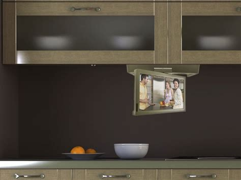 cabinet flip kitchen tv 30 best images about kitchen tvs flipdown tv pop up tv 9521