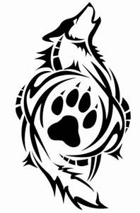 TrIbal Wolf Paw Print Decal VINYL STICKER Funny WINDOW CAR ...