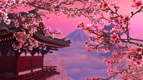 Cherry Blossom Animated Wallpaper - blooming 3d screensaver live wallpaper hd