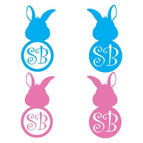 easter bunny monogram svg cuttable frames