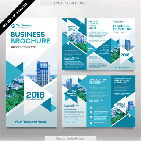 12 Tri Fold Brochure Template Design Images Tri Fold Business Brochure Template In Tri Fold Layout Corporate