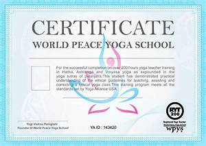 Course Completion Certificate Format Word Yoga Certification With Wpys