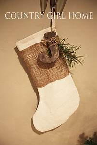 Burlap stocking with initial treat bags country for Wooden letters for stockings