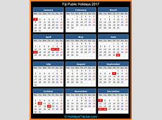 Fiji Public Holidays 2017 – Holidays Tracker