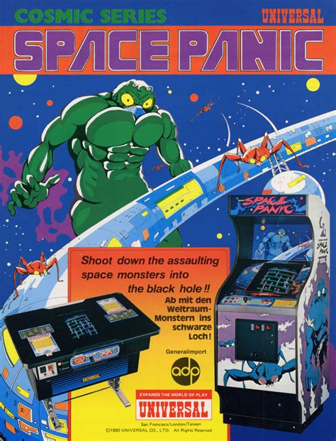 arcade flyer archive video game flyers space panic