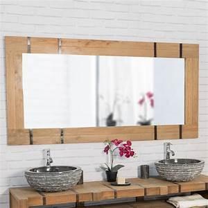 miroir de salle de bain 160 loft naturel With grand miroir pour salle de bain