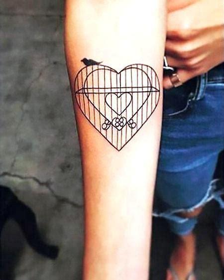 birdcage heart tattoo idea