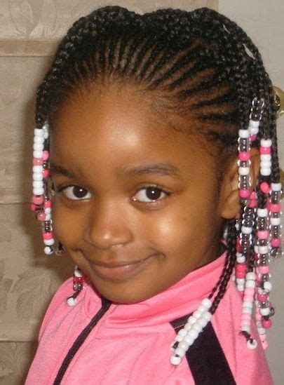 little girl natural hairstyle with beads black women