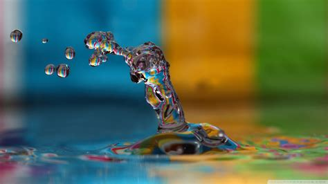 colorful water splash  hd desktop wallpaper   ultra