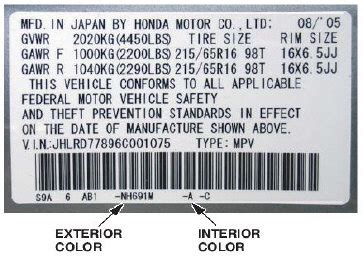 2008 honda civic interior color codes www indiepedia org