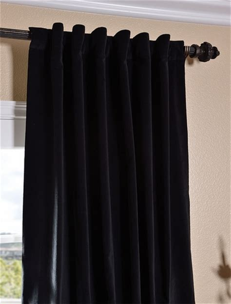 buy black vintage cotton velvet curtain drapes
