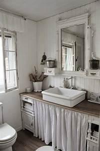 la vasque a poser rectangulaire en 67 photos inspirantes With meuble salle de bain shabby