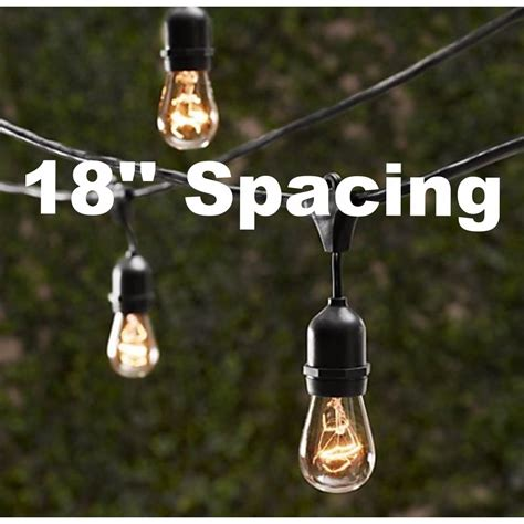 how long of a light string for a 6 ft christmas tree 10 bulbs vintage patio string lights edison bulbs 18 spacing 20 ebay