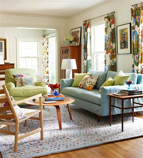 chic and colorful living room ideas for