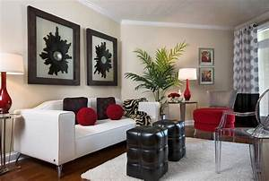 Red decor living room living room for Black and red living room decor