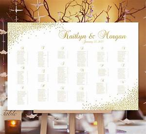 Wedding Seating Chart Poster Confetti Gold Print Ready