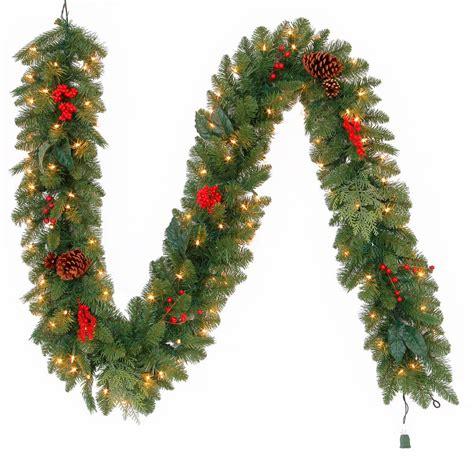 martha stewart living christmas lights martha stewart living 9 ft pre lit winslow fir garland