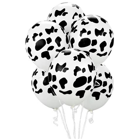 cow print 11 balloons 50 pack accessories - Cowhide Balloons