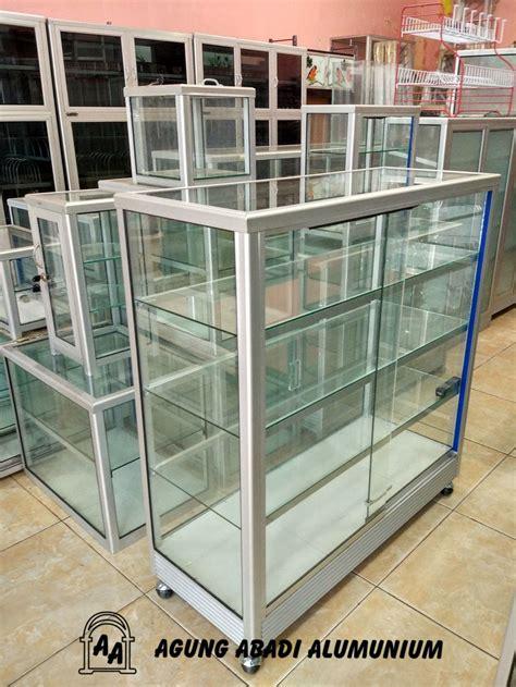 jual etalase kaca  meter  lapak agung abadi alumunium