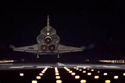 Shuttle Space Landing Endeavour Nasa Night Mission